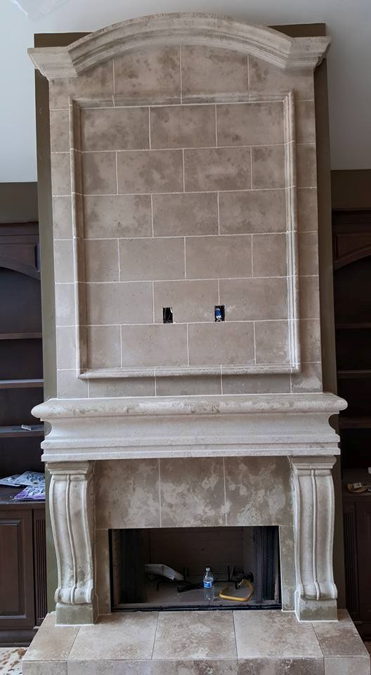 fireplace modern s cast stone mantels
