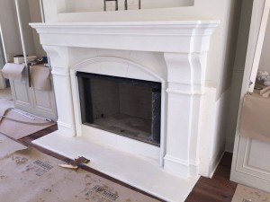 Cast Stones Fireplace Material Options and Fireplace Mantels are available in Fireplace Atlanta